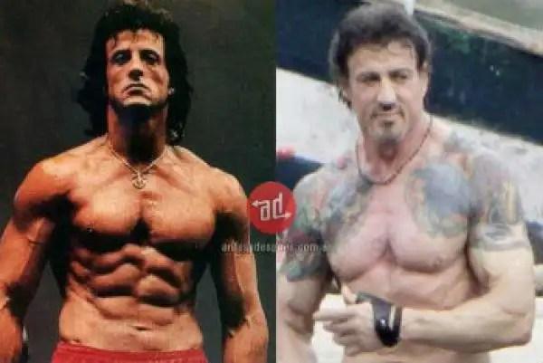 noticias famosos musculosos antes y después