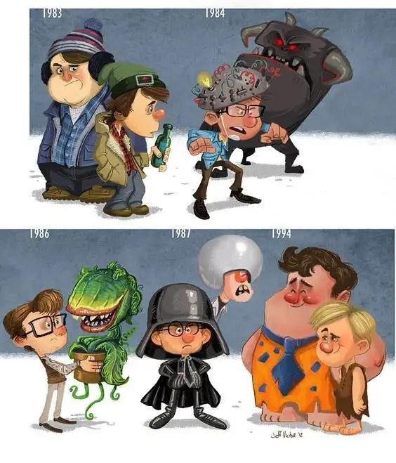 evolucion010 - Evolución de los famosos por Jeff Victor