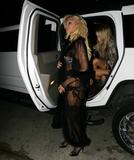 Paris Hilton show off her body wearing skimpy bra and panties and black stockings as she attends Hugh Hefner's 80th Birthday Celebration in Los Angeles - Hot Celebs Home