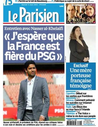 Le Parisien Samedi 9 Mars 2013