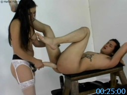 FemdomStrapon.com SiteRip - Kinky Nurse Gives Submissive Sissy Guy Rectal Check Up And Rough Strapon Pegging During Medical Exam.