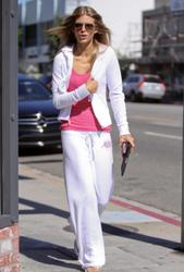 AnnaLynne McCord braless in pink tank top showing pokies leaving Warren Tricomi salon in West Hollywood - Hot Celebs Home