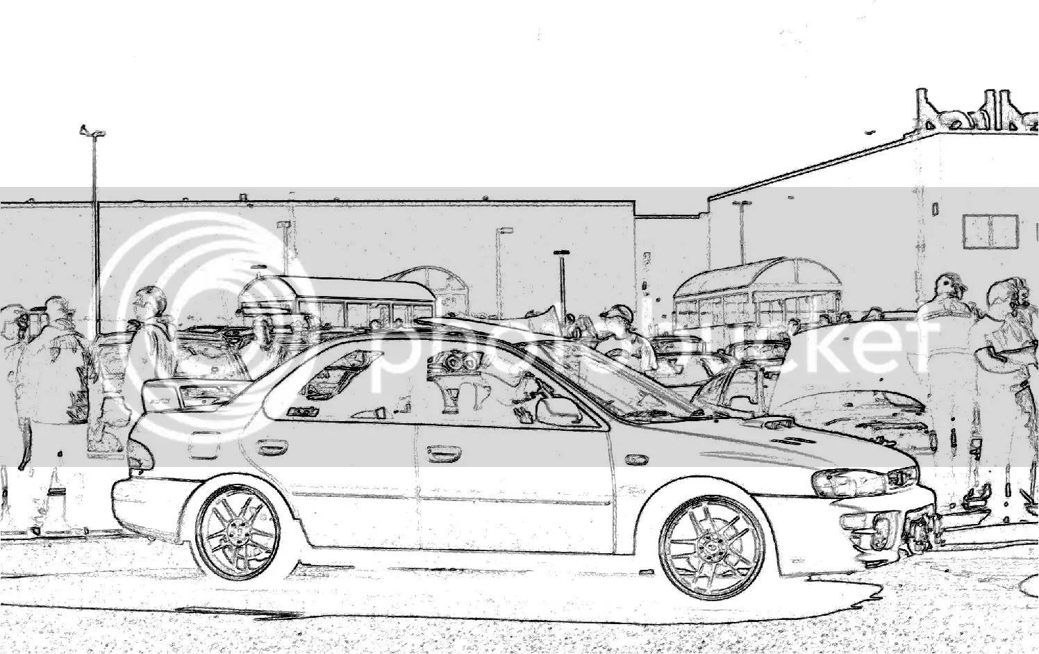Need Gc8 Impreza Line Drawing