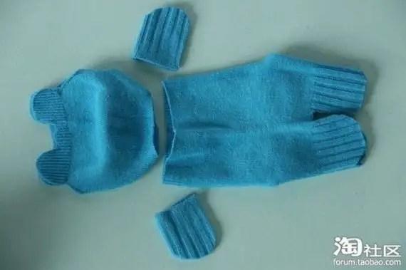 24534345 - Manual para hacer ositos de peluche con calcetines viejos