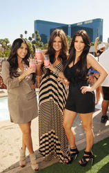 Khloe, Kourtney and Kim Kardasian 2010-04-24 - At Kourtney birthday celebration at Wet Republic at MGM Grand Resort Casino Las Vegas - Hot Celebs Home