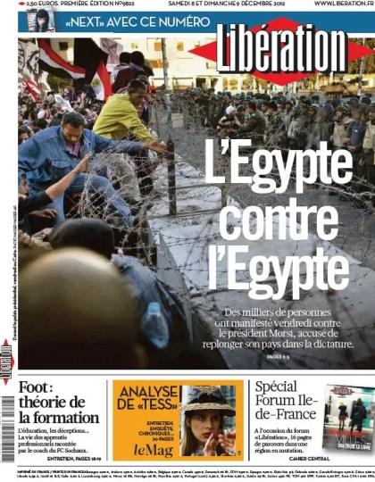 Libération du Samedi 8 et Dimanche 9 Décembre 2012