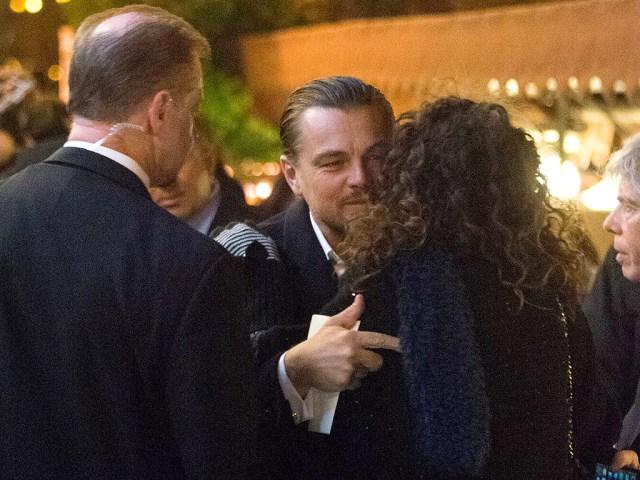 Leonardo DiCaprio Kisses Fan in Rome: Photos