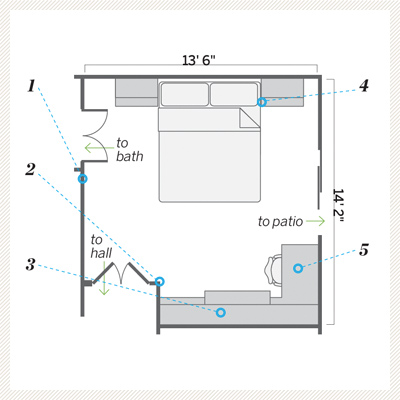Floor Plan After A Guest Bedroom Goes From Catchall To