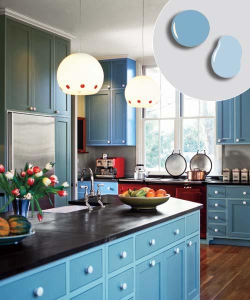 4 Bold Blue Soft Blue 12 Kitchen Cabinet Color Combos