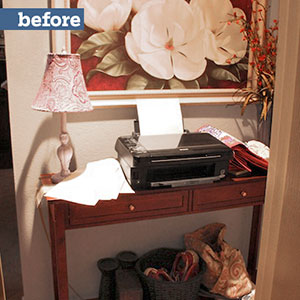 mudroom makeover before