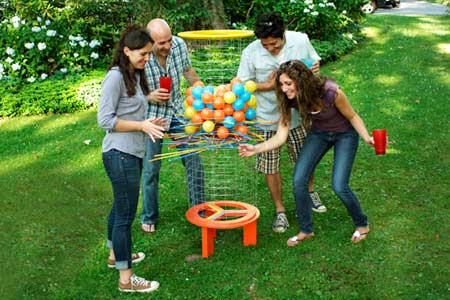 group of people playing shishkaball