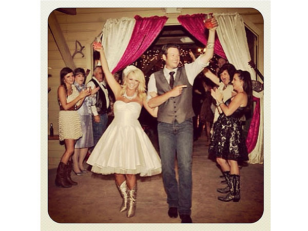 Blake Shelton and Miranda Lambert Third Wedding Anniversary