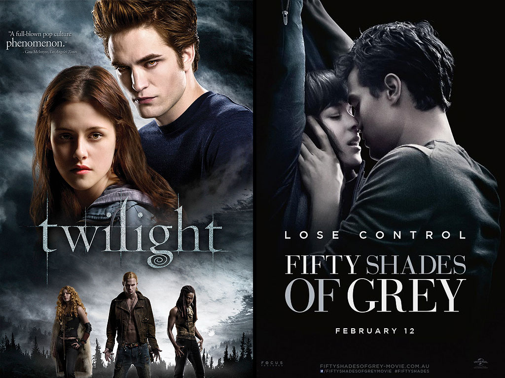 Image result for comparison between twilight and 50 shades of grey
