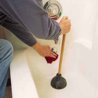 repairing a clogged tub drain
