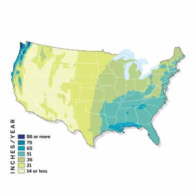 rainfall levels map