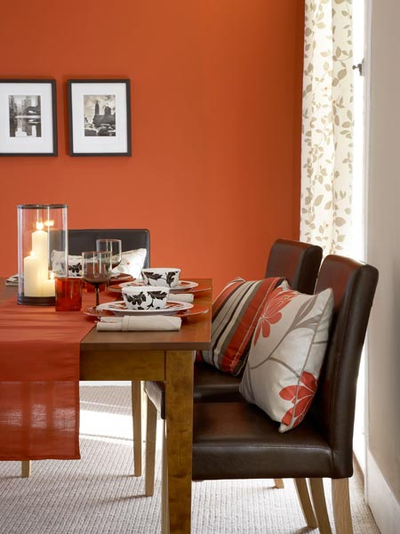 Sophisticated Dining Room Color Of The Month April 2014 Celosia Orange This Old House