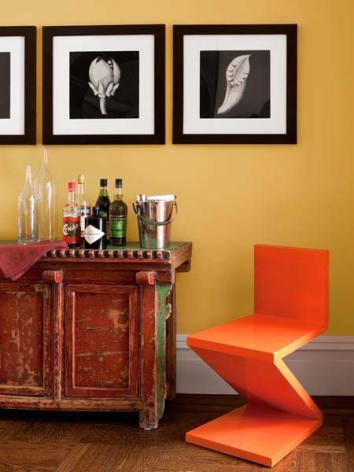 Color Forecast Pantone Spring 2014 Color Report Celosia Orange Accent Chair Wall Gallery Vintage Home Bar Orange Walls