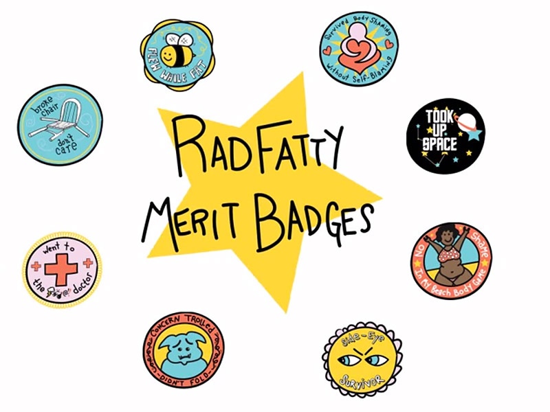 Woman Fights Fat-Shamers by Creating Merit Badges to 'Celebrate Bodies Exactly as They Are'