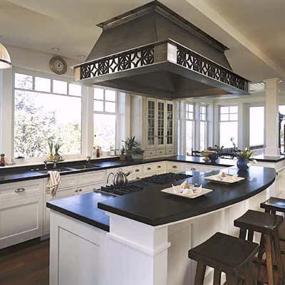 kitchens window dream house island hood kitchen ideas dark counter kitchen islands on kitchen layout ideas with island id=20638