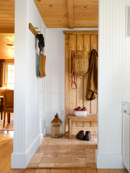 Ample Mudroom Storage A Farmhouse Renewed With Grit And