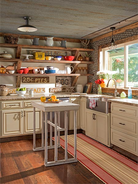 They Made a Farmhouse Fresh | Create a Rustic Farmhouse ... on Rustic Farmhouse Kitchen  id=32757