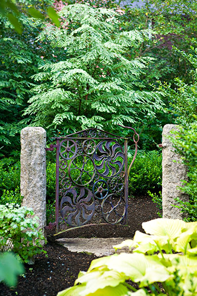 Gate from Salvaged Gears | Into the Woods for a Lot Turned ... on Magical Backyard Ideas id=56605