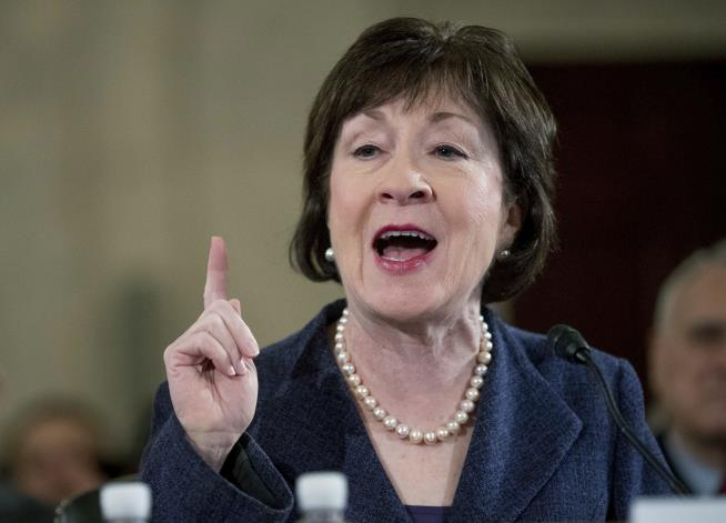 Image result for photo of susan collins on sunday talk show