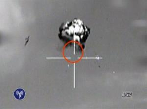 Saturday, Oct. 6, 2012 file image made from video released by the Israeli Defense Forces shows the downing of a drone that entered Israeli airspace in southern Israel.