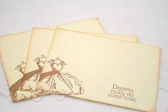 Wedding Wish Cards - Bridal Shower - Vintage Wedding Dress