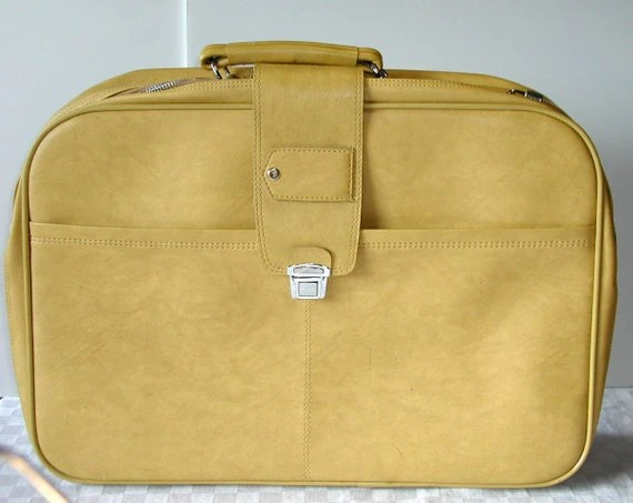Yellow Vintage Suitcase