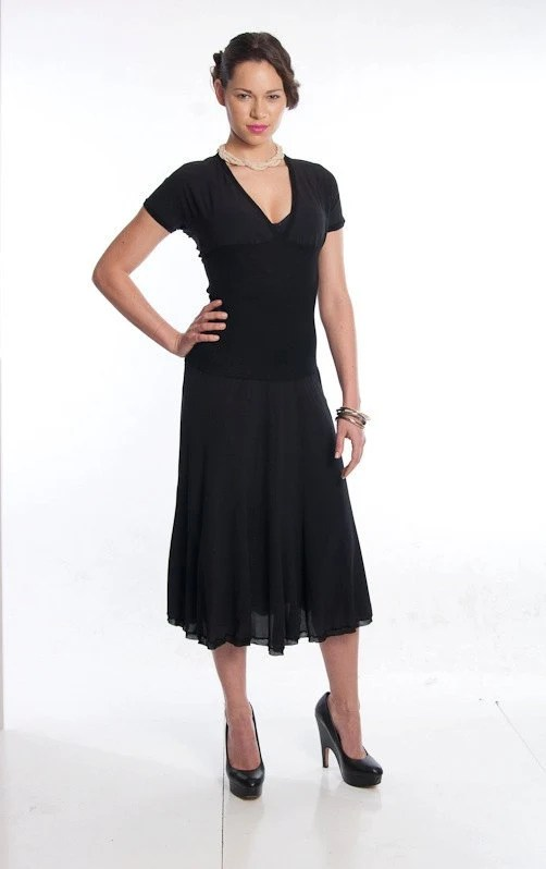 PRADA Special Little Black Dress w/ Elasticized Waist
