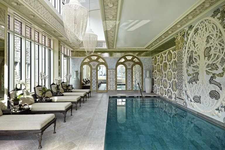 Indoor relaxation pool