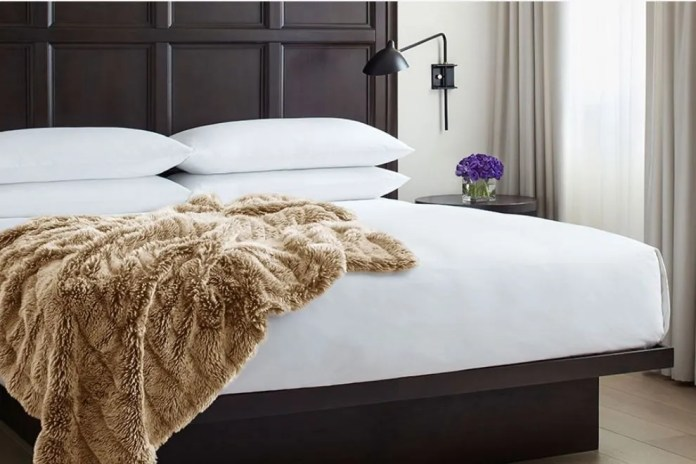 EDITION Hotels faux fur throw