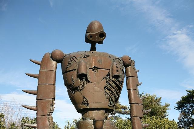 天空之城裡的機器巨人兵 (圖片來源:Ladynow/flickr)