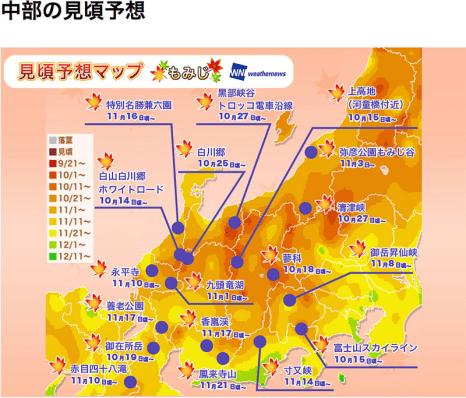 日本2017 關中地區賞楓情報