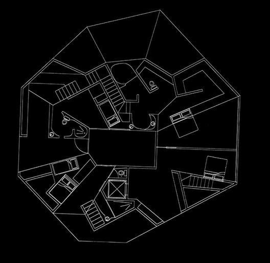 Casa Y2K (planta). Cortesia de OMA