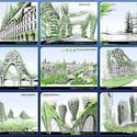 Esquemas conceptuales de las 8 torres. Imágen cortesía de Vincent Callebaut Architecture