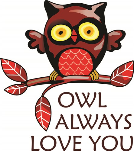 Download OWL ALWAYS LOVE YOU Vector Illustration | AnnTheGran