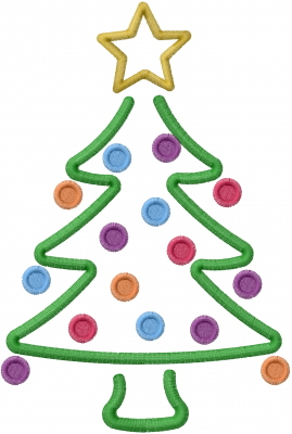 Christmas Tree Outline Embroidery Design Annthegran