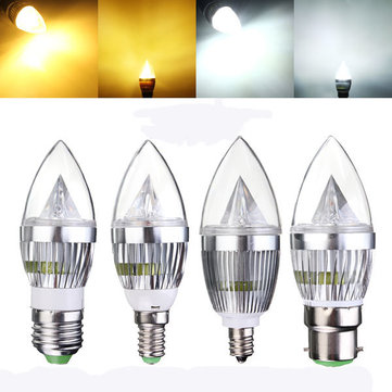 E27 E14 B22 E12 4 5w Dimmable Led Chandelier Candle Light Bulb 220v