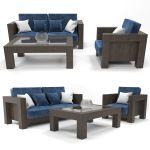Modern Wooden Sofa 3d Model Bluefabric Cgtrader