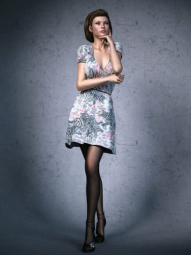 3D Dress Girl   CGTrader