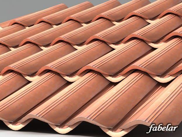 3D model Roofing tiles 2   CGTrader on Tile Models  id=25879