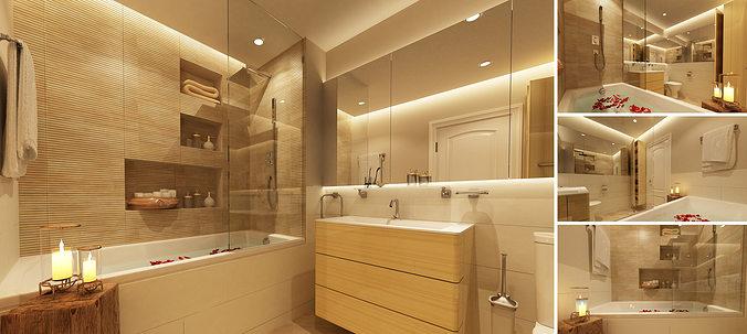 3D model Master bathroom | CGTrader on Model Bathroom Ideas  id=51538