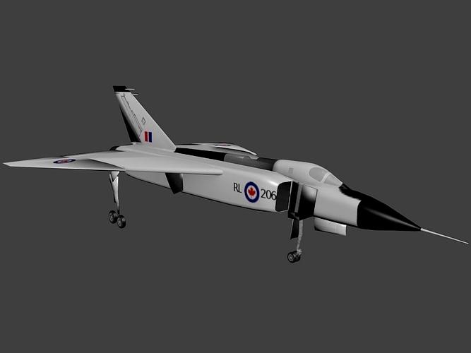 3D Model Avro CF 105 Arrow CGTrader