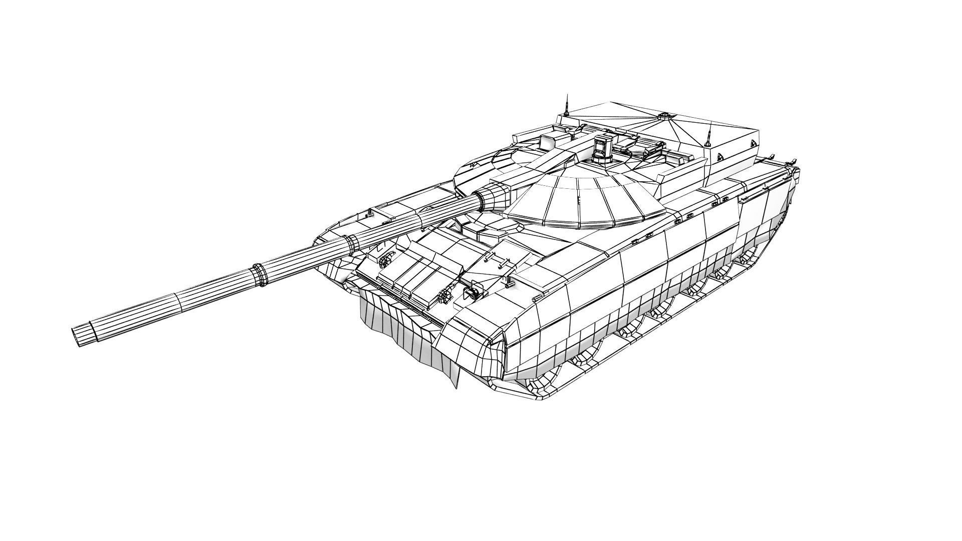 3d Model T 95 Black Eagle Tank Vr Ar Low Poly Rigged