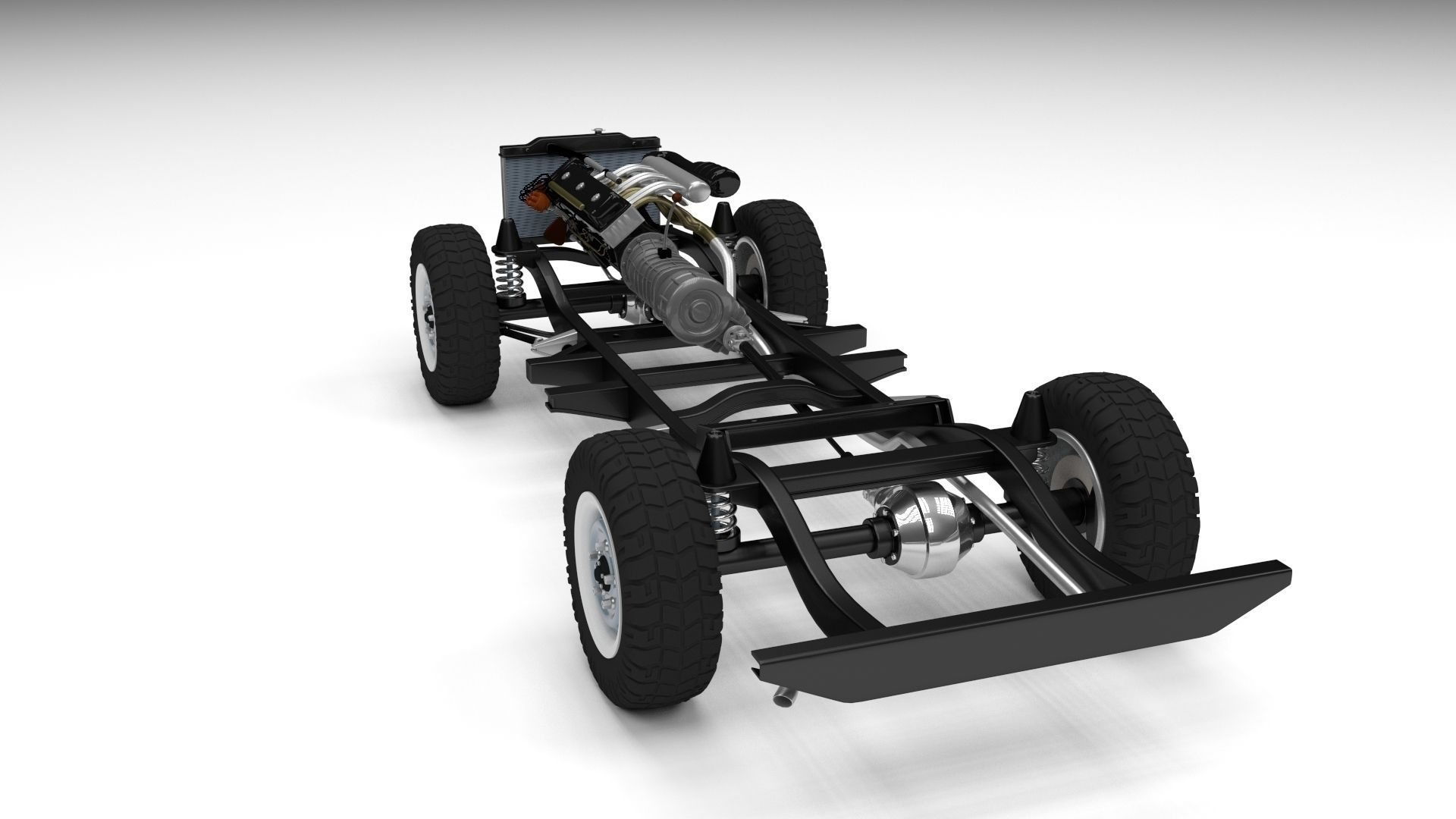 froad Truck Chassis 3D model