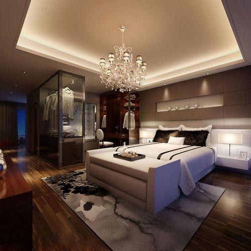 Realistic Bedroom Design 3D | CGTrader on Model Bedroom Design  id=59086