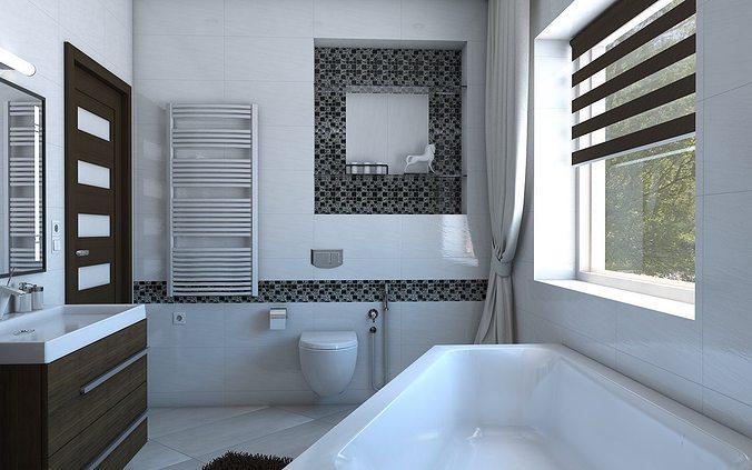 3D model Bathroom with angular bath   CGTrader on Model Bathroom  id=19037