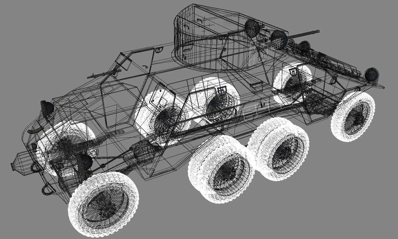 Steyr Adgz Spahwagen M35 3d Model Max